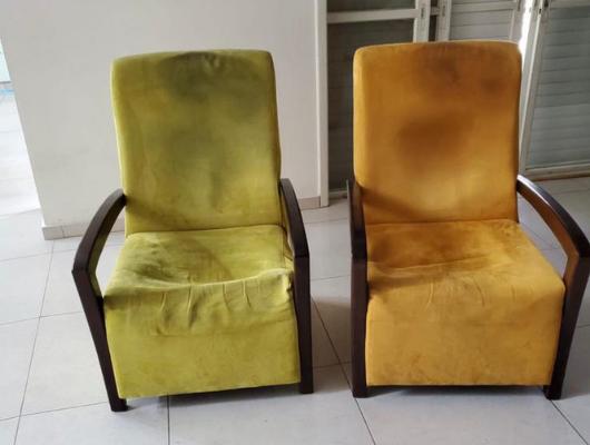 ריפוד שתי כורסאות לפני | repair sofa