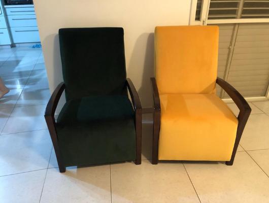 ריפוד שתי כורסאות אחרי | repair sofa