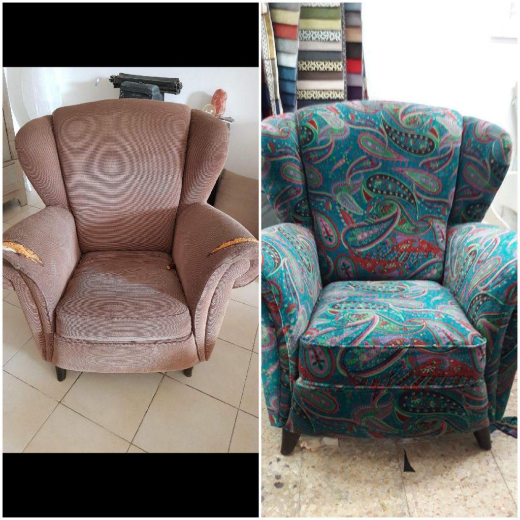 ריפוד כורסא ישנה